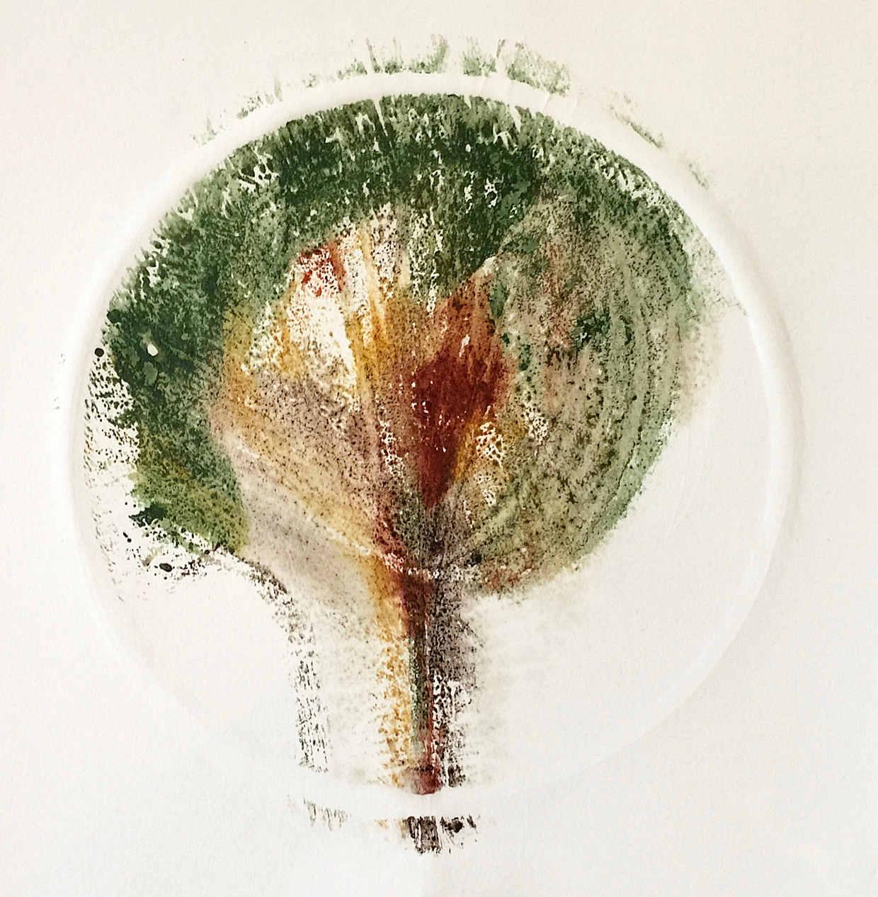 Baum4 - Papierarbeit von Eva Doelker-Heim