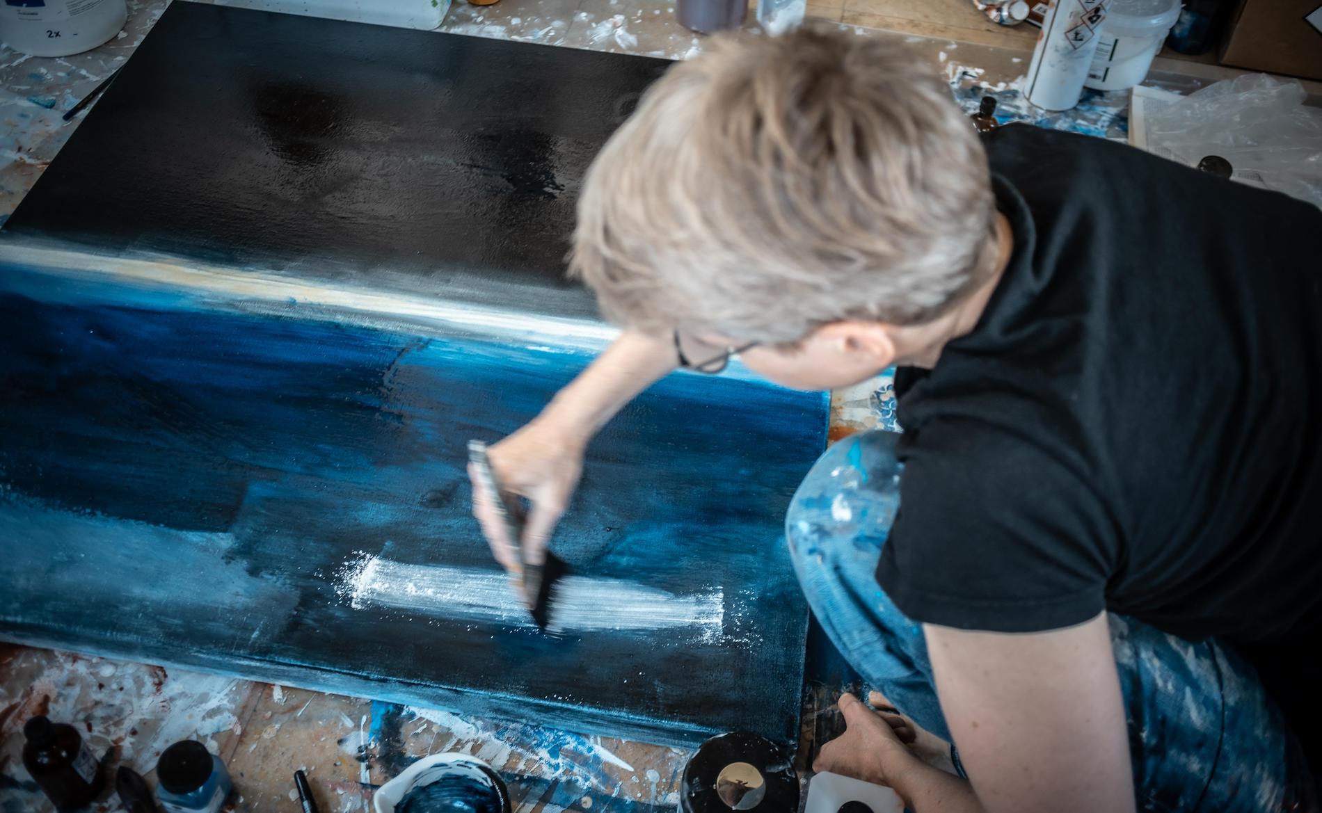 Eva Doelker-Heim bei der Arbeit