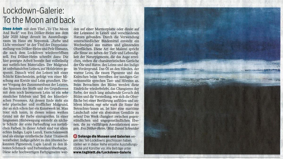 Pressebericht im Tagblatt am 21.11.2020
