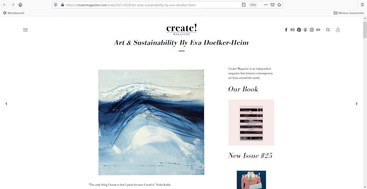 Beitrag im Onlinemagazin create!