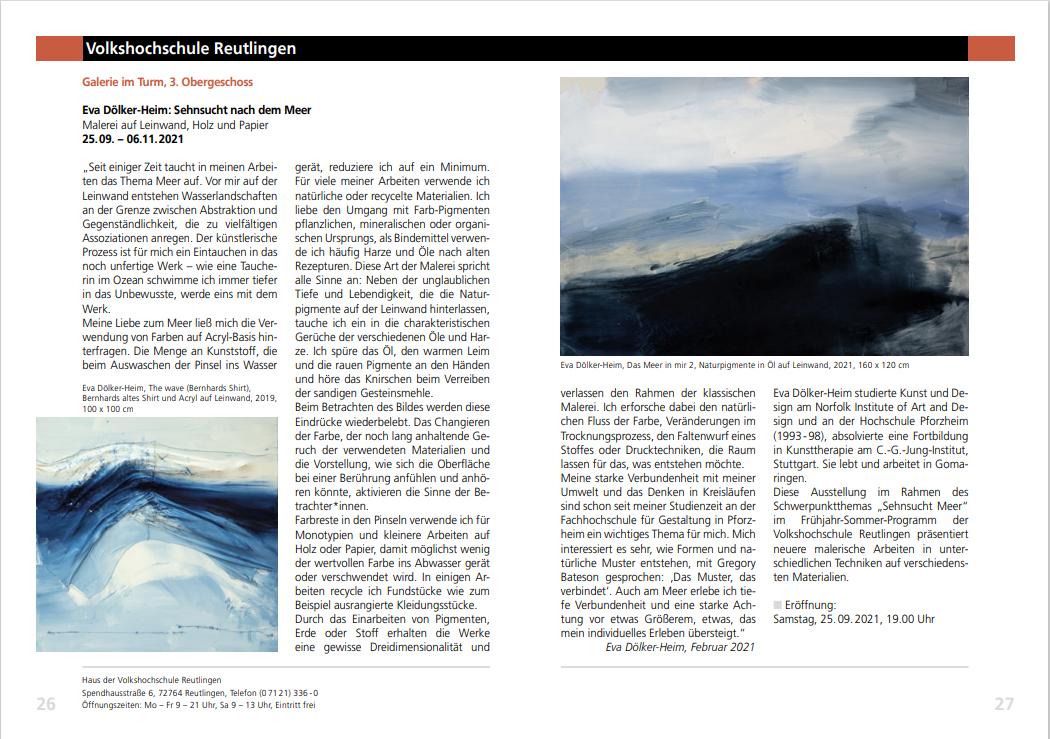 Ausstellungshinwei in RT ART Quartal - 3-2021
